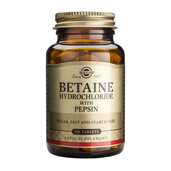 Betaine Hydrocloride with Pepsin 100 tabl. Solgar