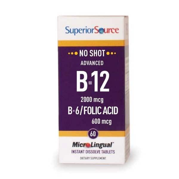Advanced B12 2000ug+B6 2mg+Folic Acid 600ug