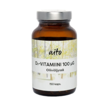 Aito D3-vitamiini 100ug 150 kaps
