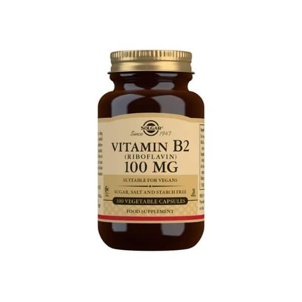 B2-vitamiini 100mg 100kaps solgar