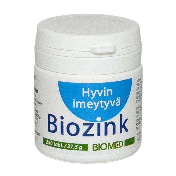 Biozink 250 tabl - Biomed