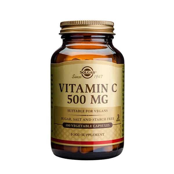 Vitamin C 500mg 100 vegekaps. Solgar