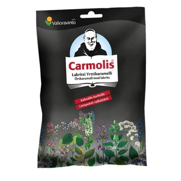 Carmolis Lakritsikaramelli 72g - Bertil`s Health