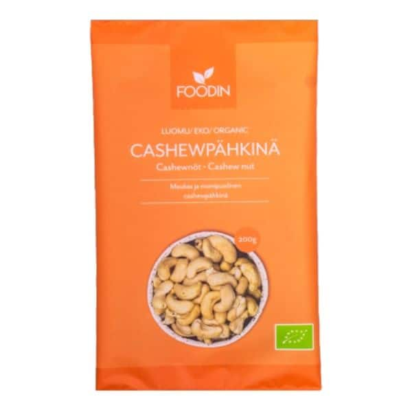 foodin Cashewpähkinä 200g Luomu