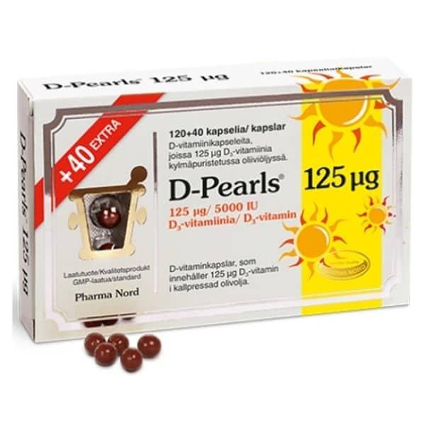 D-Pearls 125 ug 120 + 40 kaps - Pharma Nord