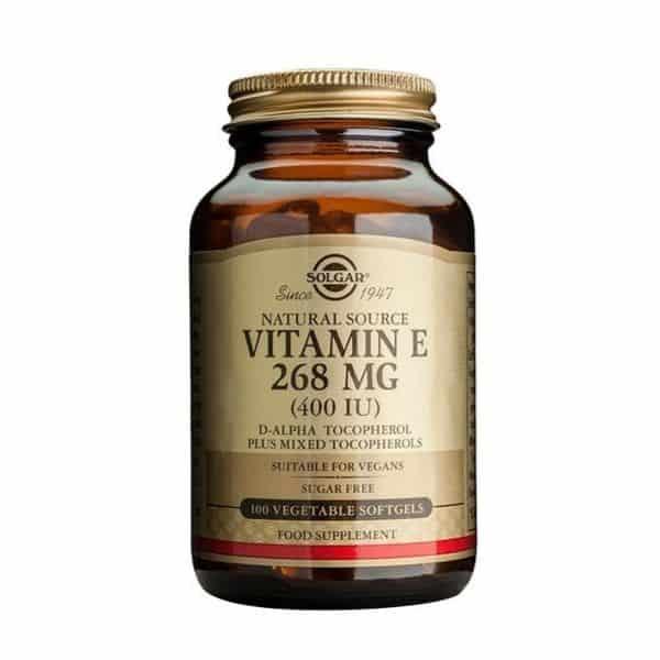 E- vitamiini 268mg 100 softgels - Solgar