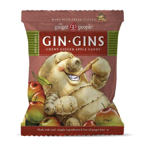 Gin Gins Chewy Apple Candy 150g