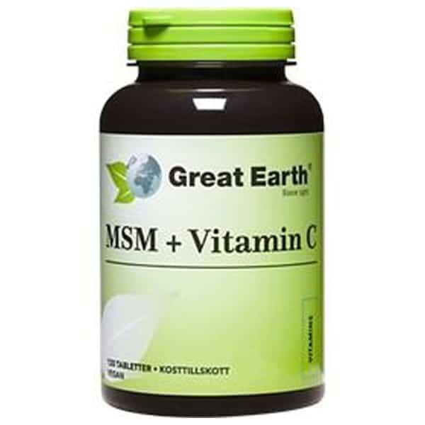 MSM + C 120 tablettia - Great Earth