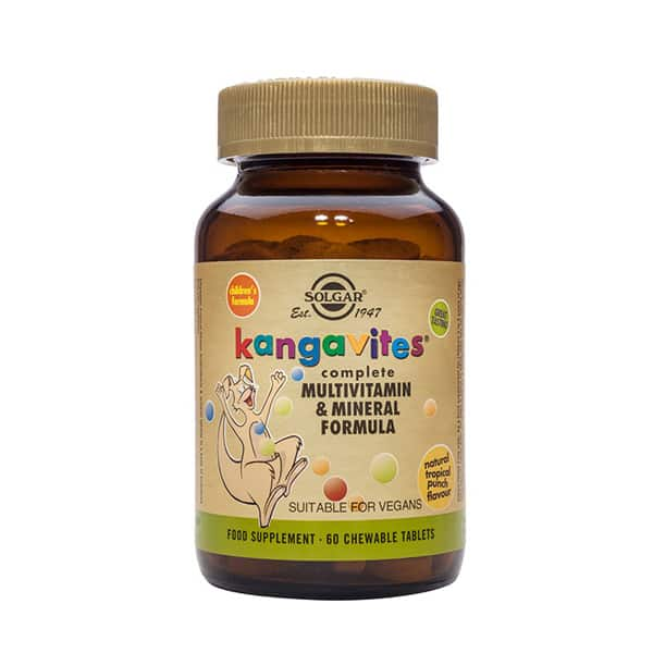 Kangavites tropical punch chewable 60 tablets