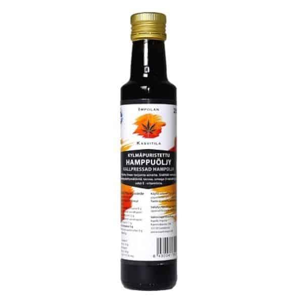 Kylmäpuristettu Hamppuöljy 250 ml