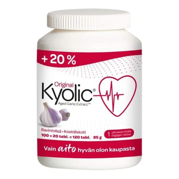 Kyolic Extra koko 100+20 tablettia - Valioravinto