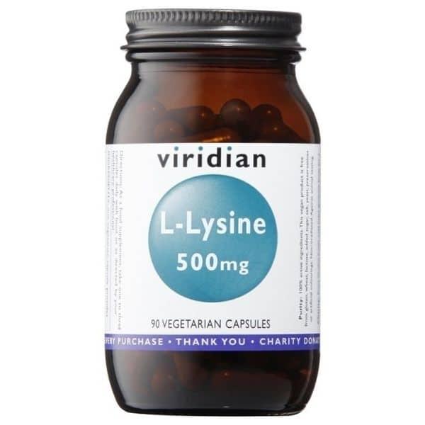 Viridian L-Lysine 500mg 30kaps.