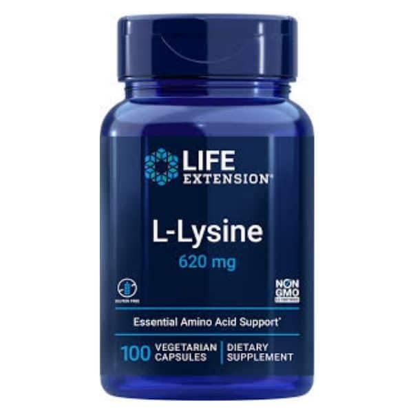 L-Lysiini 620mg 100vkaps.-Life Extension