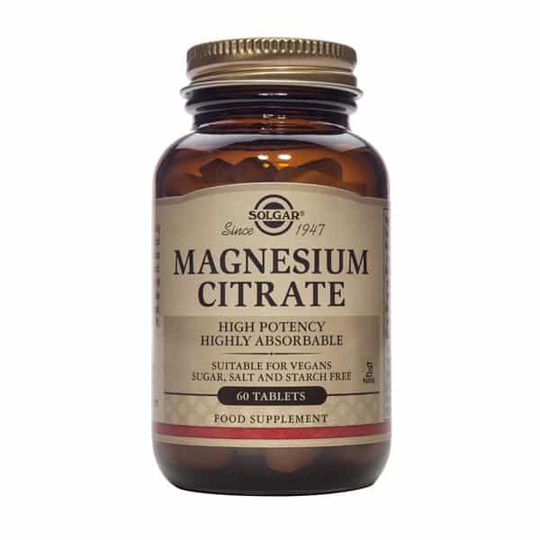 Magnesiumsitraatti 60 tabl. - Solgar