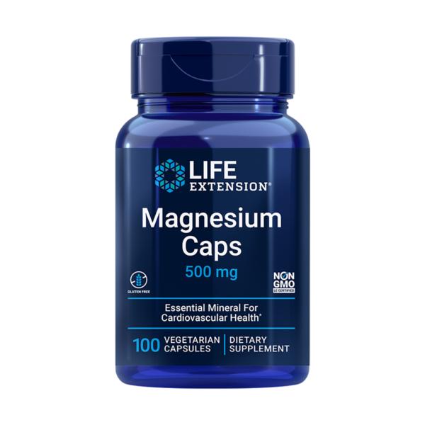 Magnesium caps 500mg 100caps – Life extension