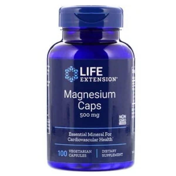 Magnesium caps 500mg 100caps - Life extension