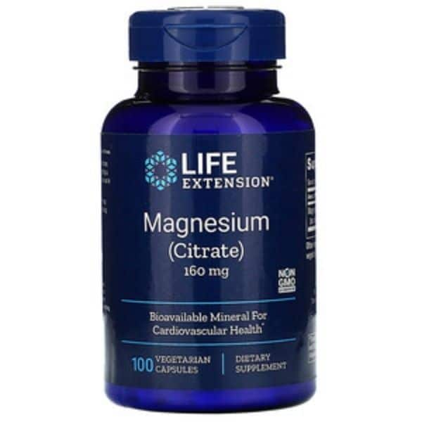 Magnesium Citrate 160mg 100 kaps - Life extension