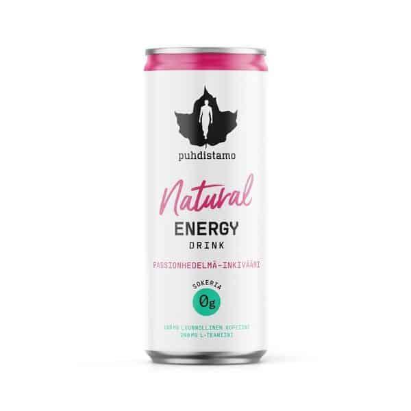 Natural energy drink Passionhedelmä-inkivääri 330ml - Puhdistamo