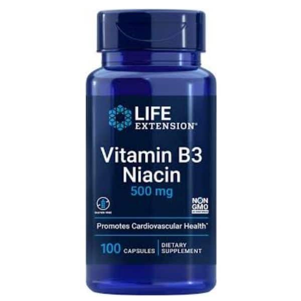 Niacin B3 500mg - Life Extension