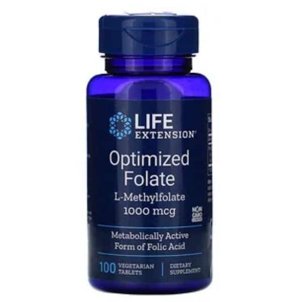 Optimized Folate 100 tabl - Life extension