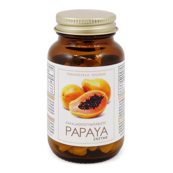 Papaya Entsyymitabletit 90 kaps - Aboa Medica