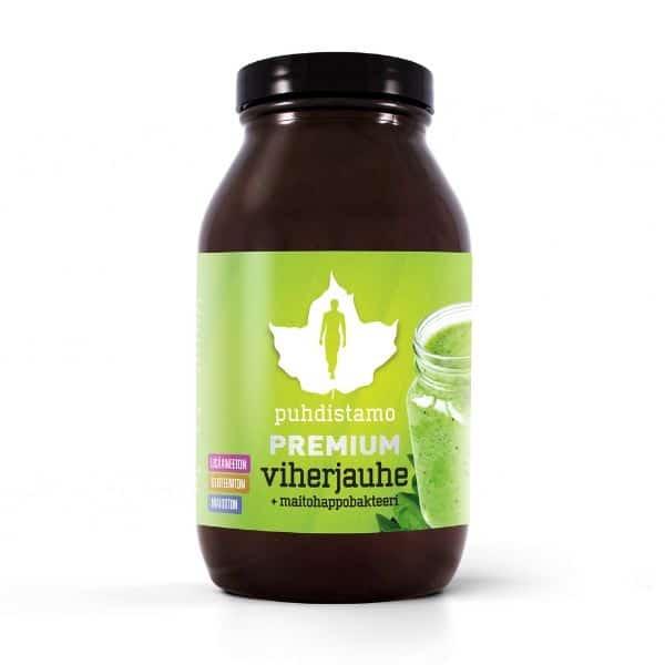 Premium viherjauhe + maitohappo 120g