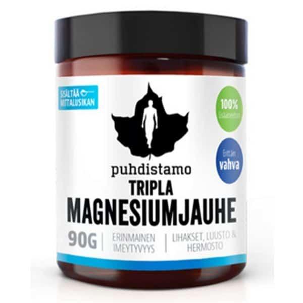 Tripla magnesiumjauhe 90g - Puhdistamo