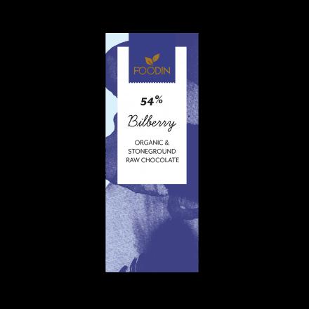 Raakasuklaa luomu 54% Bilberry 40g