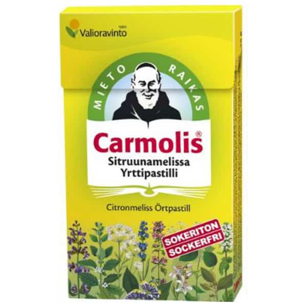 Carmolis Sokeriton Sitruunamelissapastilli 45g - Bertil`s Health