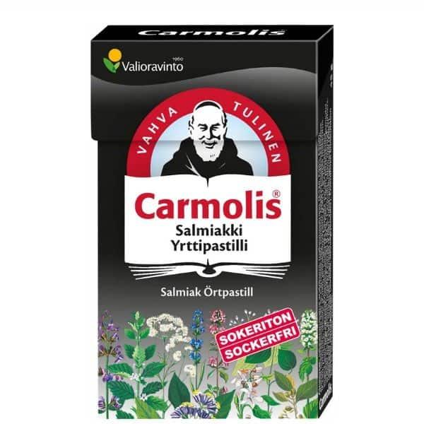 Carmolis Sokeriton Salmiakkipastilli 45g - Bertil`s Health