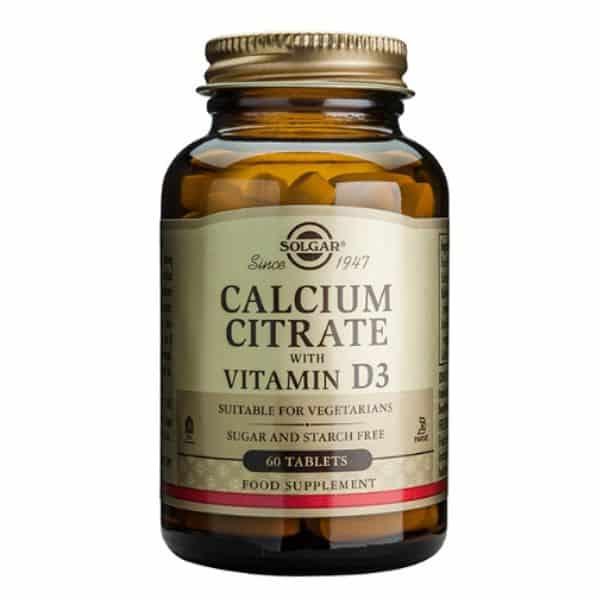 Solgar Calcium citrate + D3 60 tablettia