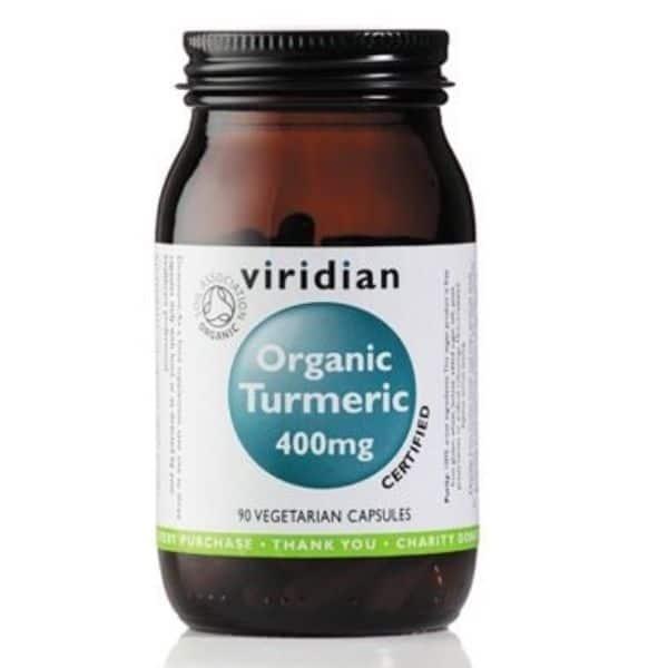 Viridian Organic Turmeric 400mg 30kaps.