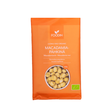 Macadamiapähkinä luomu raaka 150g Foodin