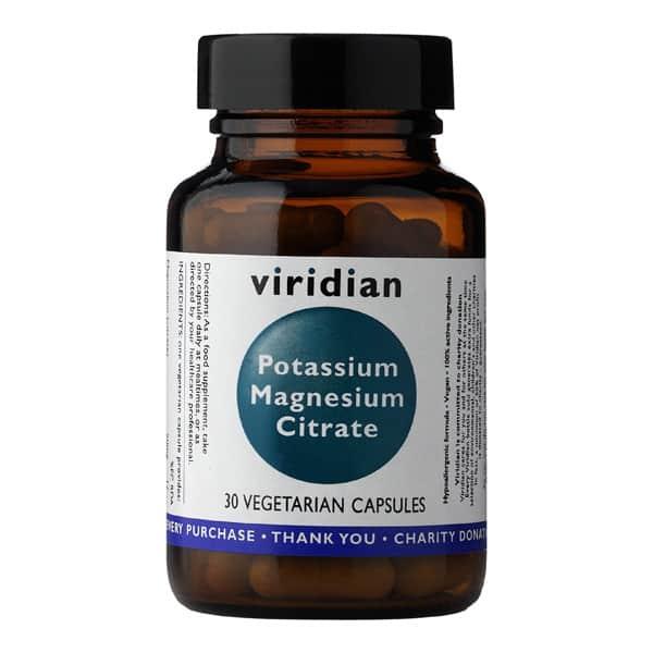 Viridian Potassium Magnesium Citrate 30 kaps