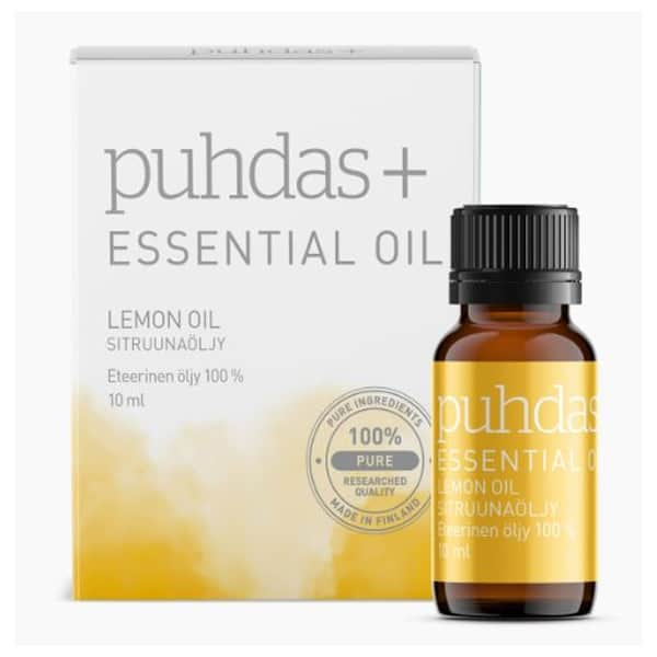 Lemon Essential Oil 10ml - Puhdas+