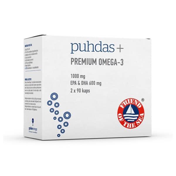 Premium Omega-3 180 kaps - Puhdas+