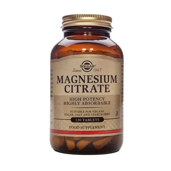 Magnesiumsitraatti 120 tabl. - Solgar