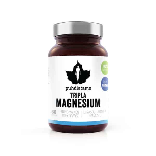Tripla Magnesium 60 kaps - Puhdistamo
