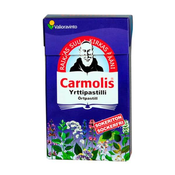 Carmolis Sokeriton Yrttipastilli 45g - Valioravinto