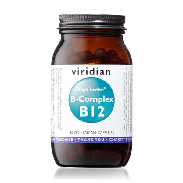 Viridian High twelve B-complex B12 90 kaps