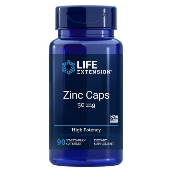 Zinc caps 50mg 90 kaps - Life extension