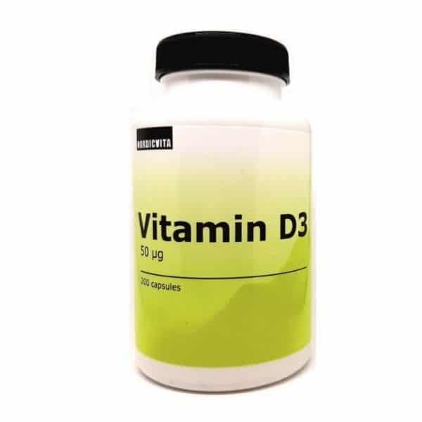 D3-vitamiini 50mcg 200 kaps - Nordicvita