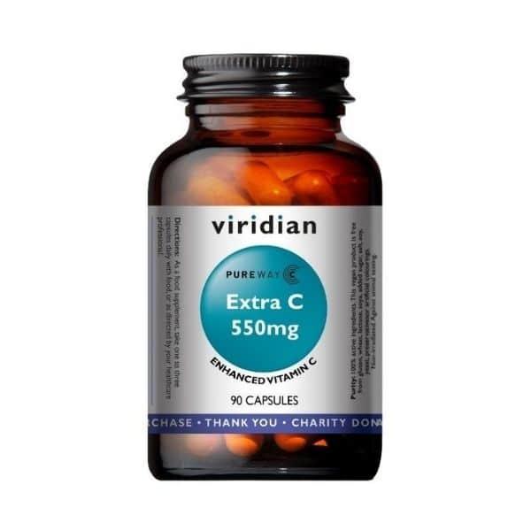 Viridian Extra C 550mg 90 kapselia