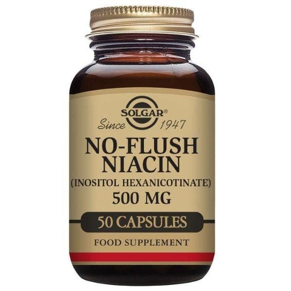 No-Flush Niasiini 500 mg 50 vegecaps - Solgar