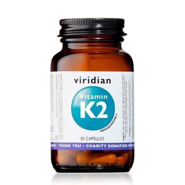 Viridian K2-vitamiini 30 kapselia